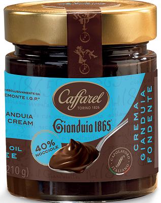 Crema Gianduia Fondente Gianduiacreme zartbitter, 210 g Caffarel