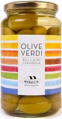 Rainbow Olive verdi Bella di Cerignola Grüne Oliven 550 ml, Frantoio Muraglia