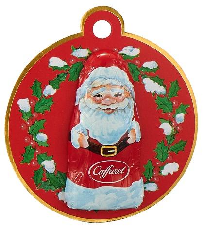 Babbo Natale Weihnachtsmannanhänger aus Vollmilchschokolade, 12 g Caffarel