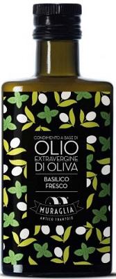 Natives Olivenöl extra mit Basilikum 200 ml, Frantoio Muraglia