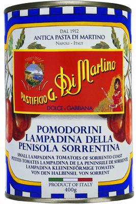 Dolce & Gabbana Limited Edition Pomodorini Lampadina della Penisola Sorrentino Kirschtomaten, 400 g Di Martino Abtropfgewicht 240 g