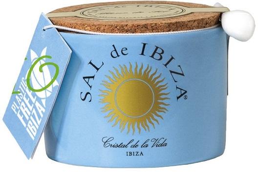 Fleur de Sel Mar Blau mit schwarzem Knoblauch im Keramiktopf, 140 g Sal de Ibiza Sonderedition