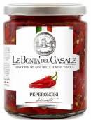 Peperoncini piccanti tagliati in Olio, scharfe Paprika in Öl 280 g, Le Bontà del Casale