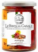 Peperoni grigliata in Olio, gegrillte Paprika in Öl 280 g, Le Bontà del Casale