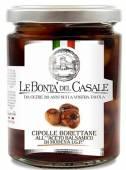 Cipolle Borettane all'Aceto Balsamico di Modena IGP, Borretane-Zwieben in Balsamessig 280 g, Le Bontá del Casale