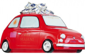 Fiat 500 aus Kunststoff rot Cinquino Rally Rosso, Majani