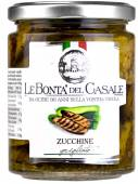 Zucchine grigliate, gegrillte Zucchini mit Kräutern in Öl 280 g, Le Bontà del Casale